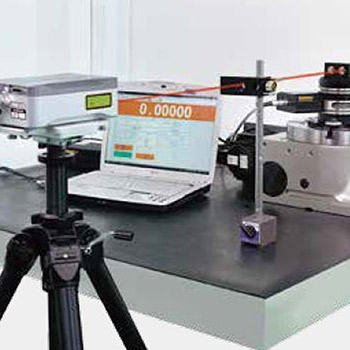 Renishaw laser instrument is applied for inspecting indexing accuracy.