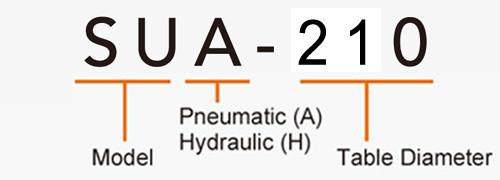 SUA-210 (Right Hand) CNC Rotary Table Pneumatic Brake