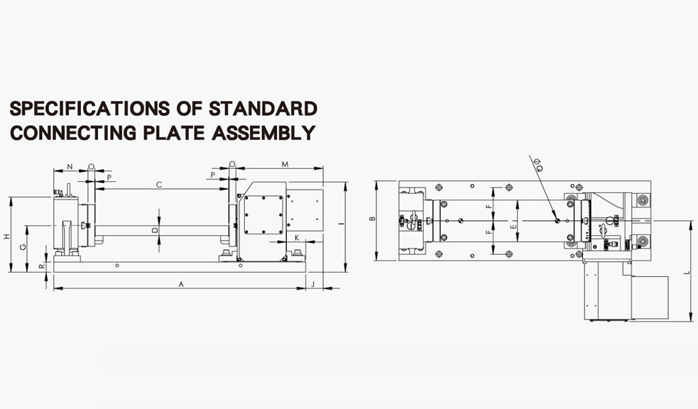 Application Drawing of Connecting Plate Assembly