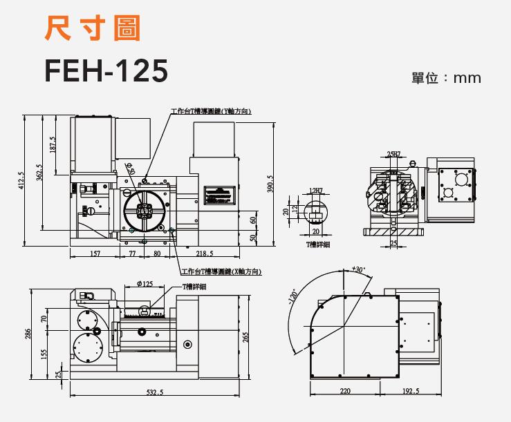 FEH-125 五軸搖籃式分度盤