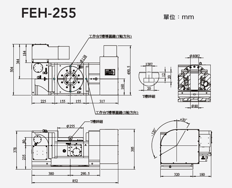 FEH-255 五軸搖籃式分度盤