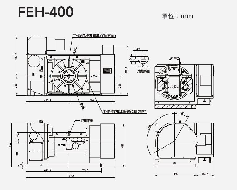FEH-400 五軸搖籃式分度盤