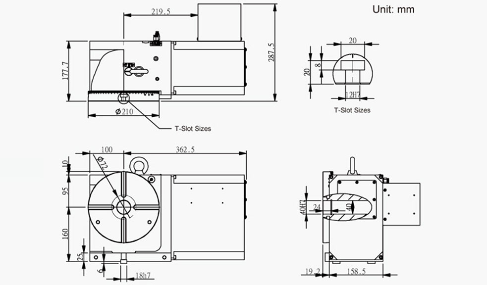 SUAC-210 (C Series) CNC Rotary Table Pneumatic Brake