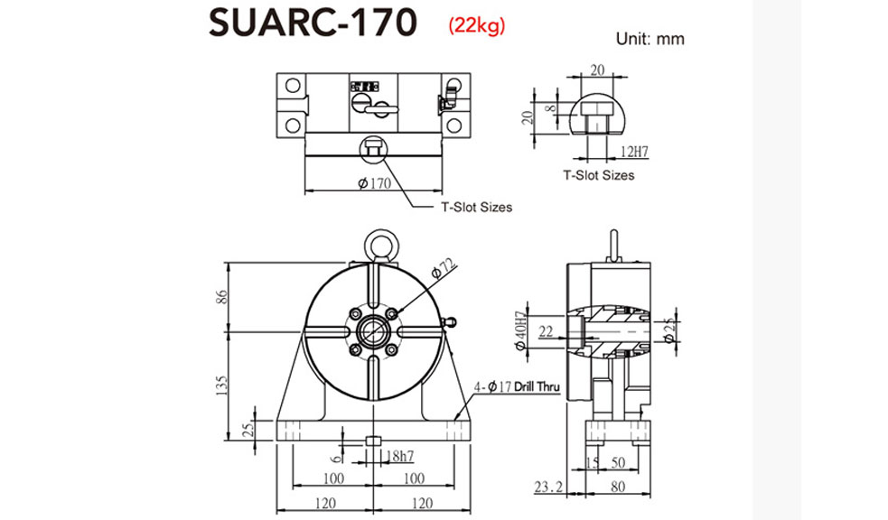 SUARC-170 Rotary Tailstock
