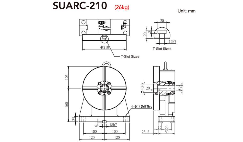 SUARC-210 Rotary Tailstock
