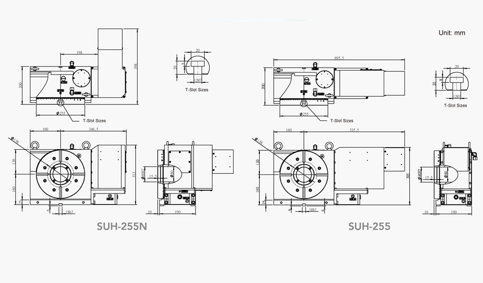 SUH-255N (Hydraulic Full Circumference Brake) CNC Rotary Table Pneumatic Brake