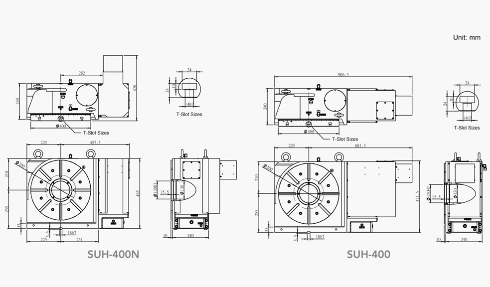 SUH-400N (Hydraulic Full Circumference Brake) CNC Rotary Table Pneumatic Brake