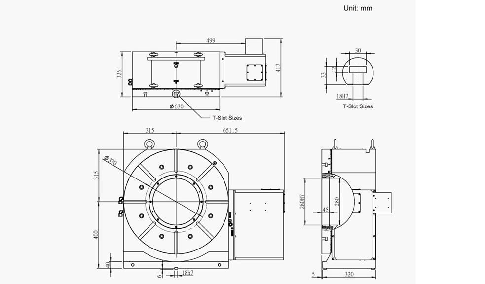 SUH-630N (Hydraulic Full Circumference Brake) CNC Rotary Table Pneumatic Brake