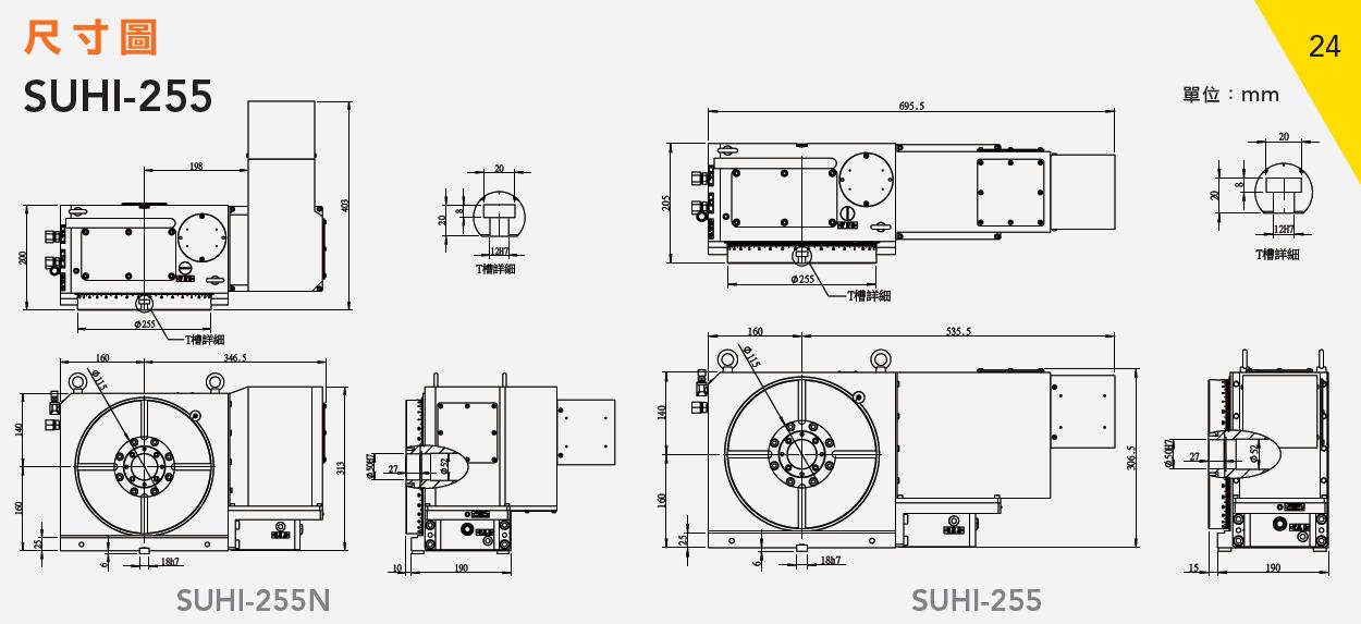 SUHI-255N 齒式油壓數控分度盤
