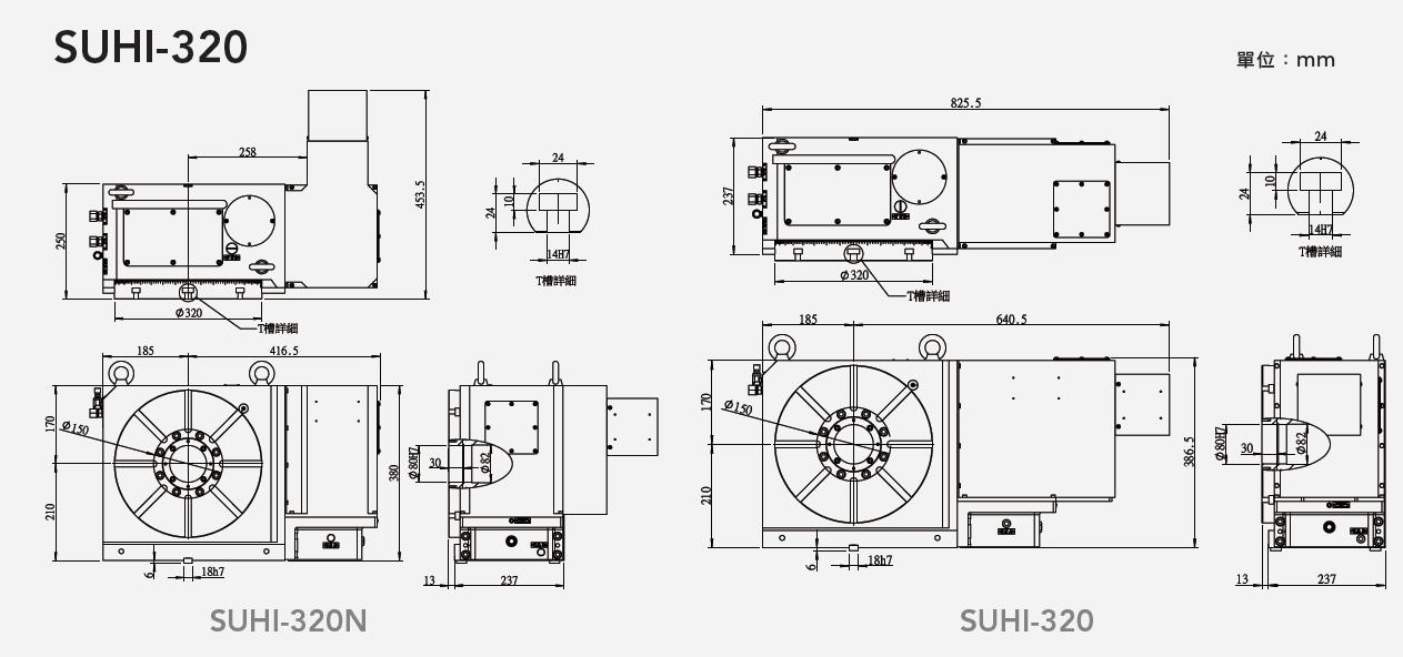 SUHI-320N 齒式油壓數控分度盤