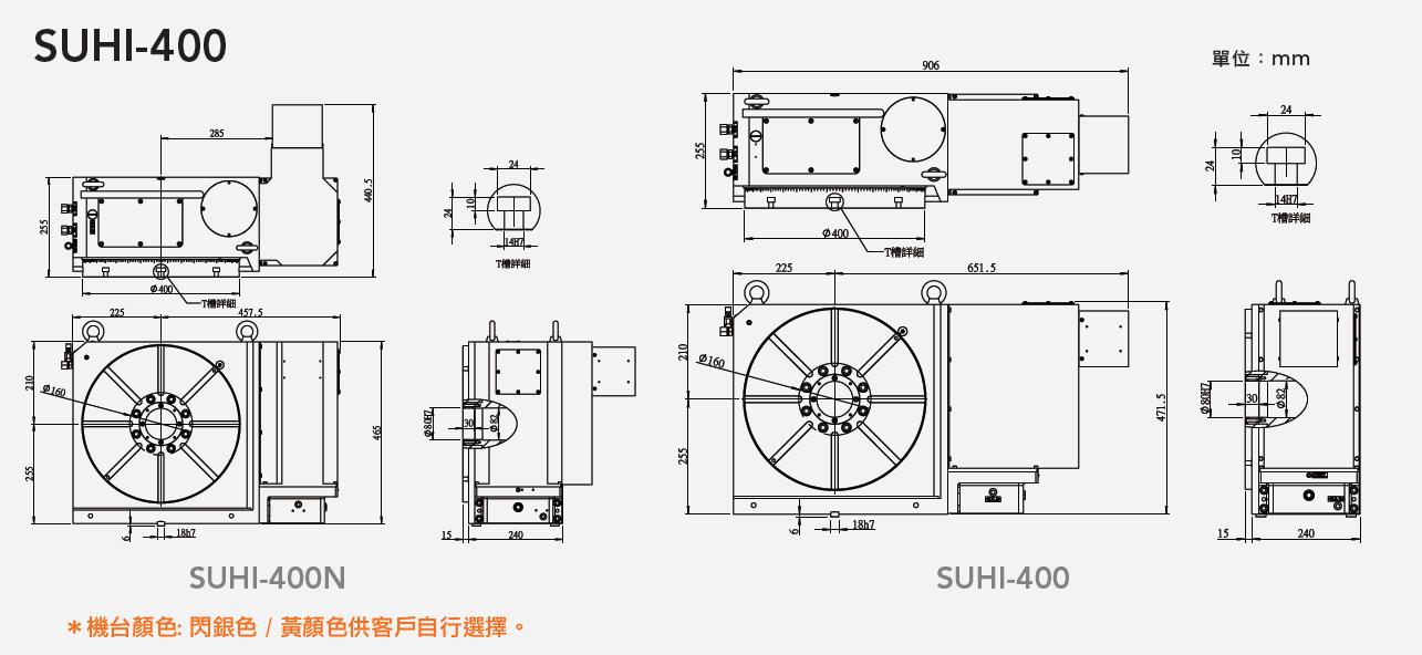 SUHI-400N 齒式油壓數控分度盤