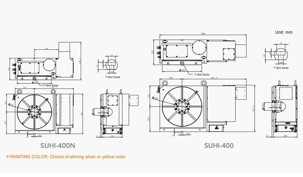 SUHI-400N (Tooth Type Hydraulic Positioning) Tooth Type Rotary Table