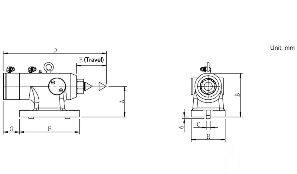 SUTTH Hydraulic Center Tailstock